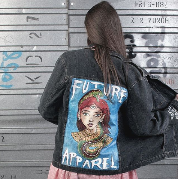 Second hand denim jacket with Future Apparel design, 2017
