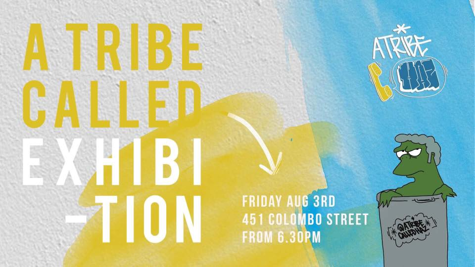 A Tribe Called Exhibition… (or things that don't go together, bright colours & black)