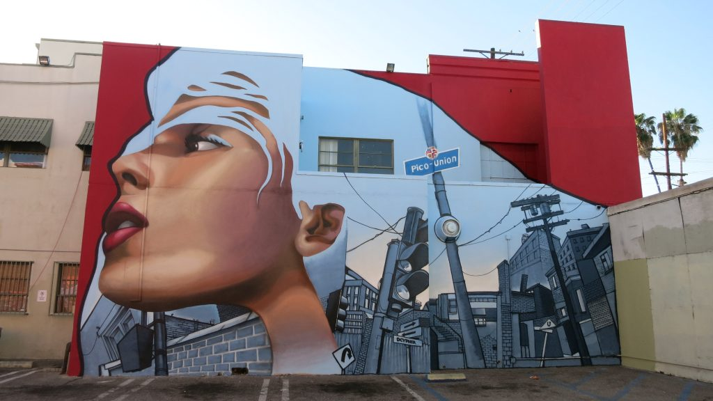 Piece for the Pico Union housing corporation, aka the Grafflab, in Los Angeles, 2015. (Photo credit: Dcypher)