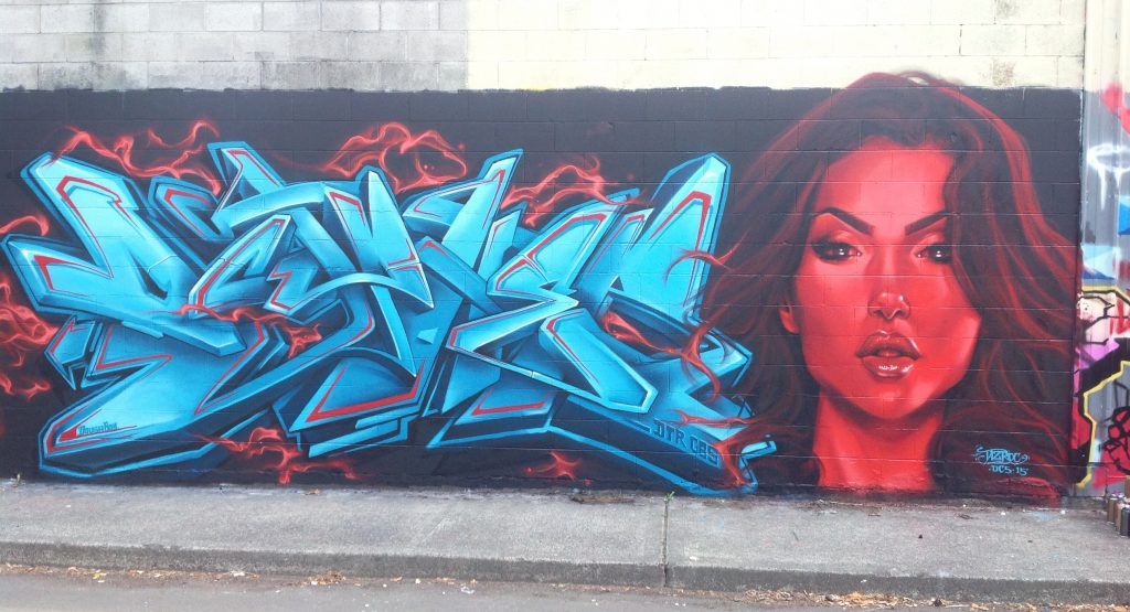 Colab with Taz Roc in Portland, 2015 (Photo credit: Dcypher)