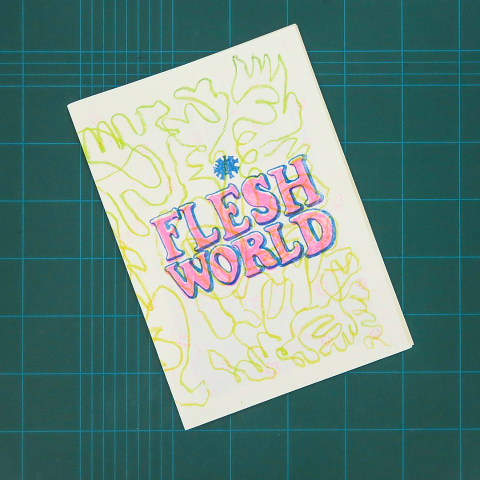 Flesh World, by Dirk Peterson, collection of the Christchurch/Otautahi Zine Library (Photo credit: Jane Maloney/MK Press)