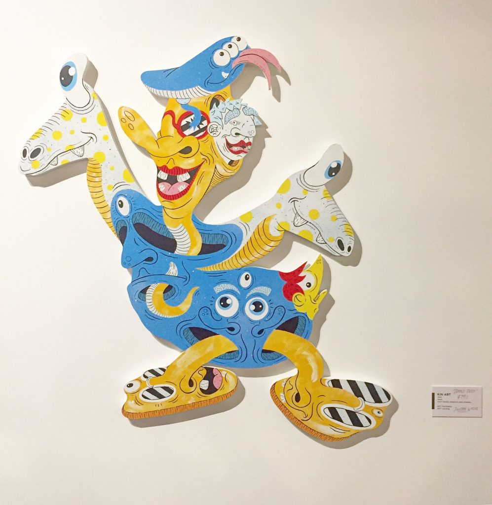 Donald Duck, from Dizney Dreamz, mixed media on plywood cut-out, 2018