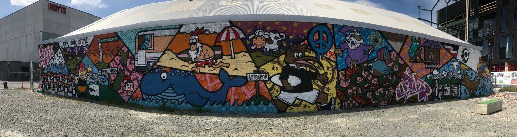 Pump Track mural, Tuam Street, 2018. Photo Credit: Manjot Kaur