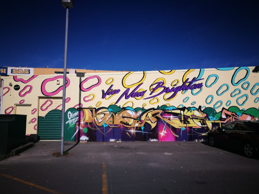Jenna Lynn Brown with Porta and Dr Suits, Viva New Brighton, Hawke Street carpark, New Brighton