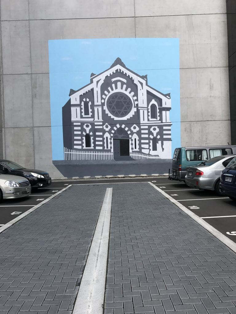 Christchurch Synagogue mural, Gloucester Street, 2019