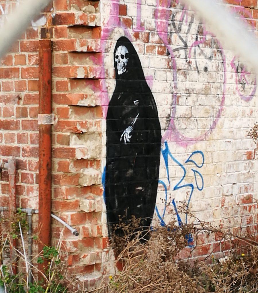 Unknown artist, stencil, NG building, Lichfield Street, 2019