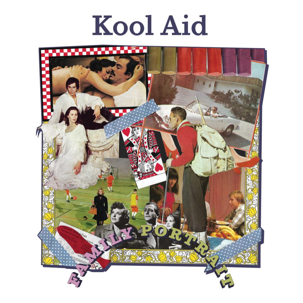 Violet French's artwork for the cover of Kool Aid's Family Portrait EP (2019)
