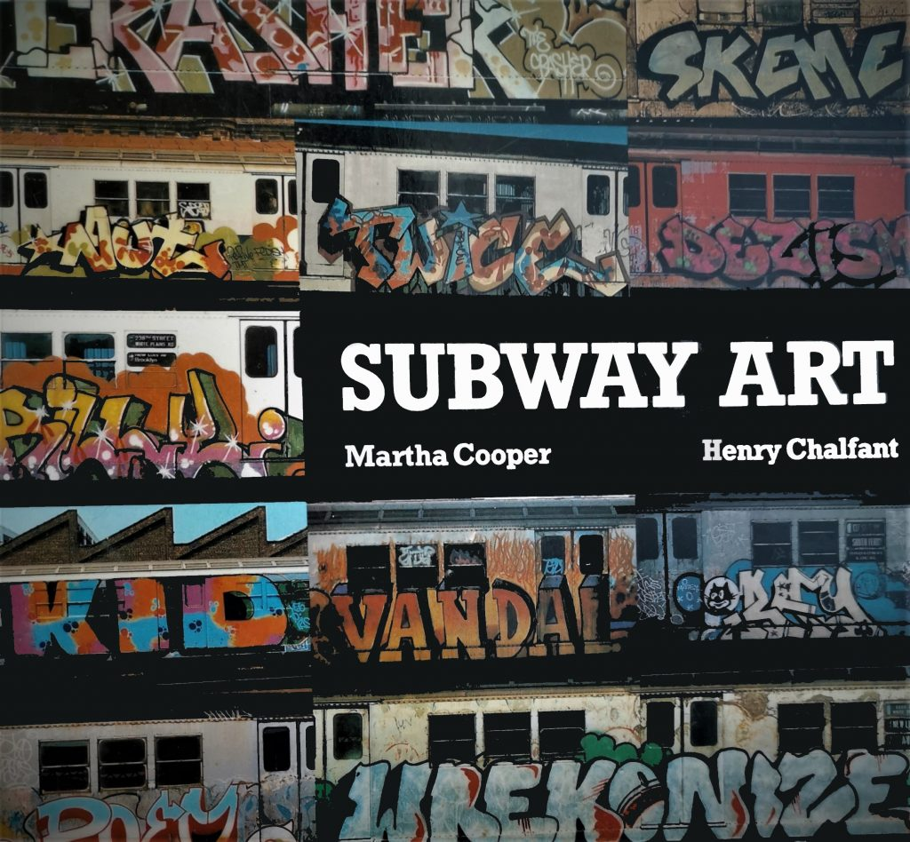 The cover of Subway Art, which features train painted with graffiti