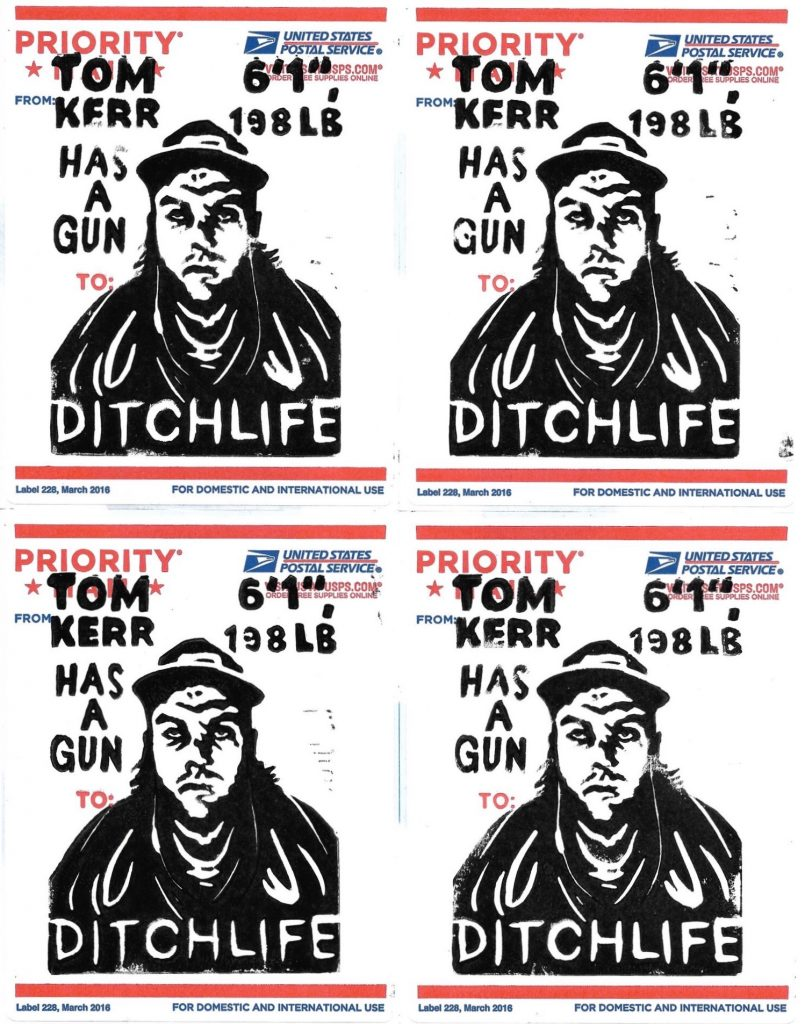 The finished Tom Kerr has a Gun stickers