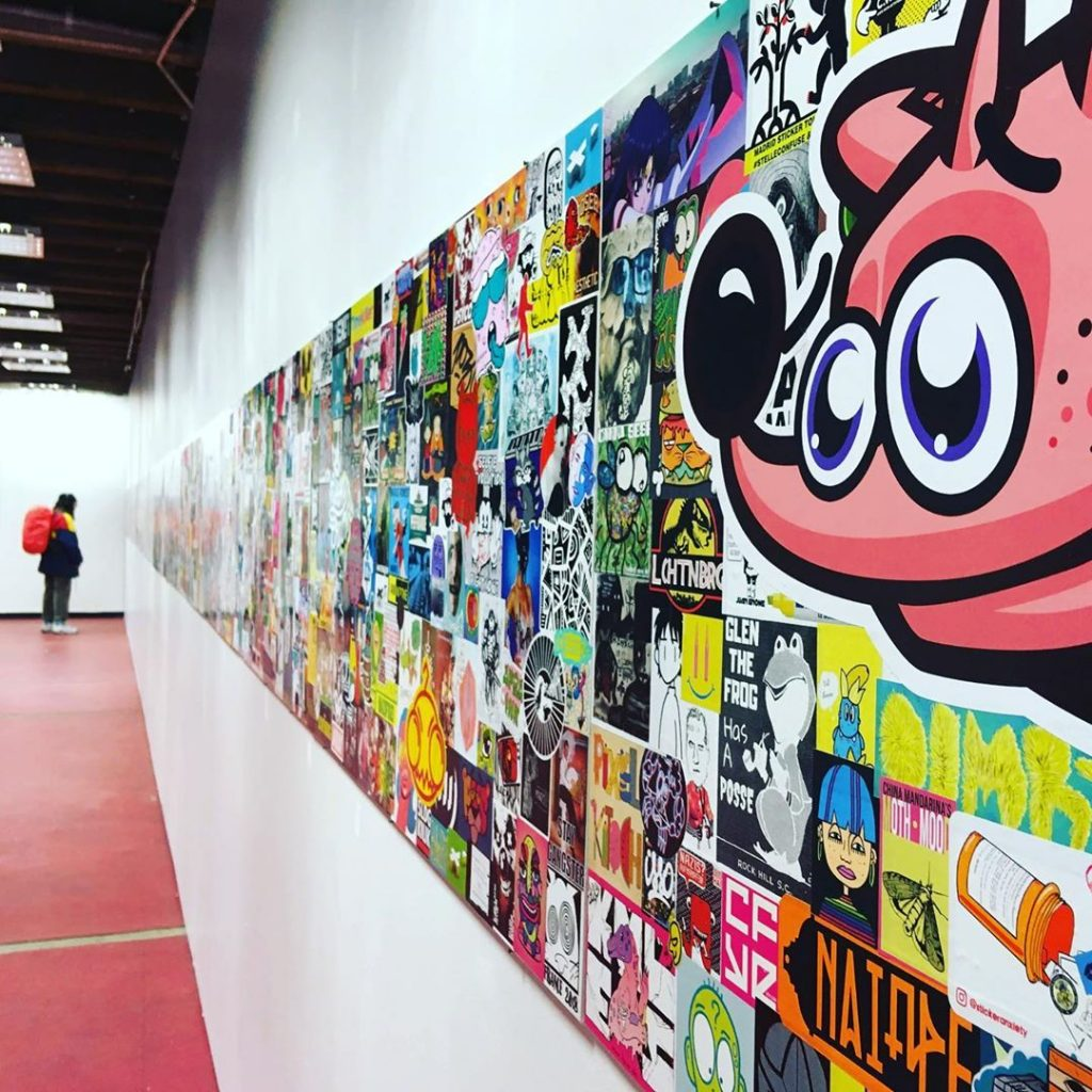 A sticker exhibition in Belgium