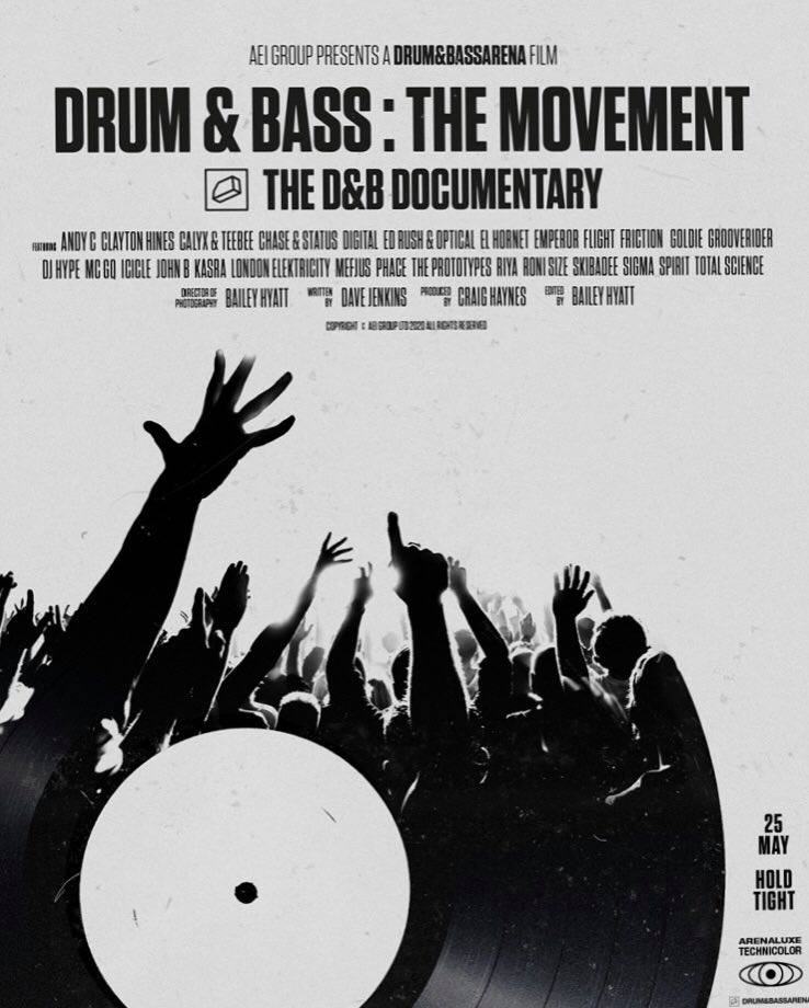 The poster for Drum & bass: The Movement, which screened at Hide Club in May