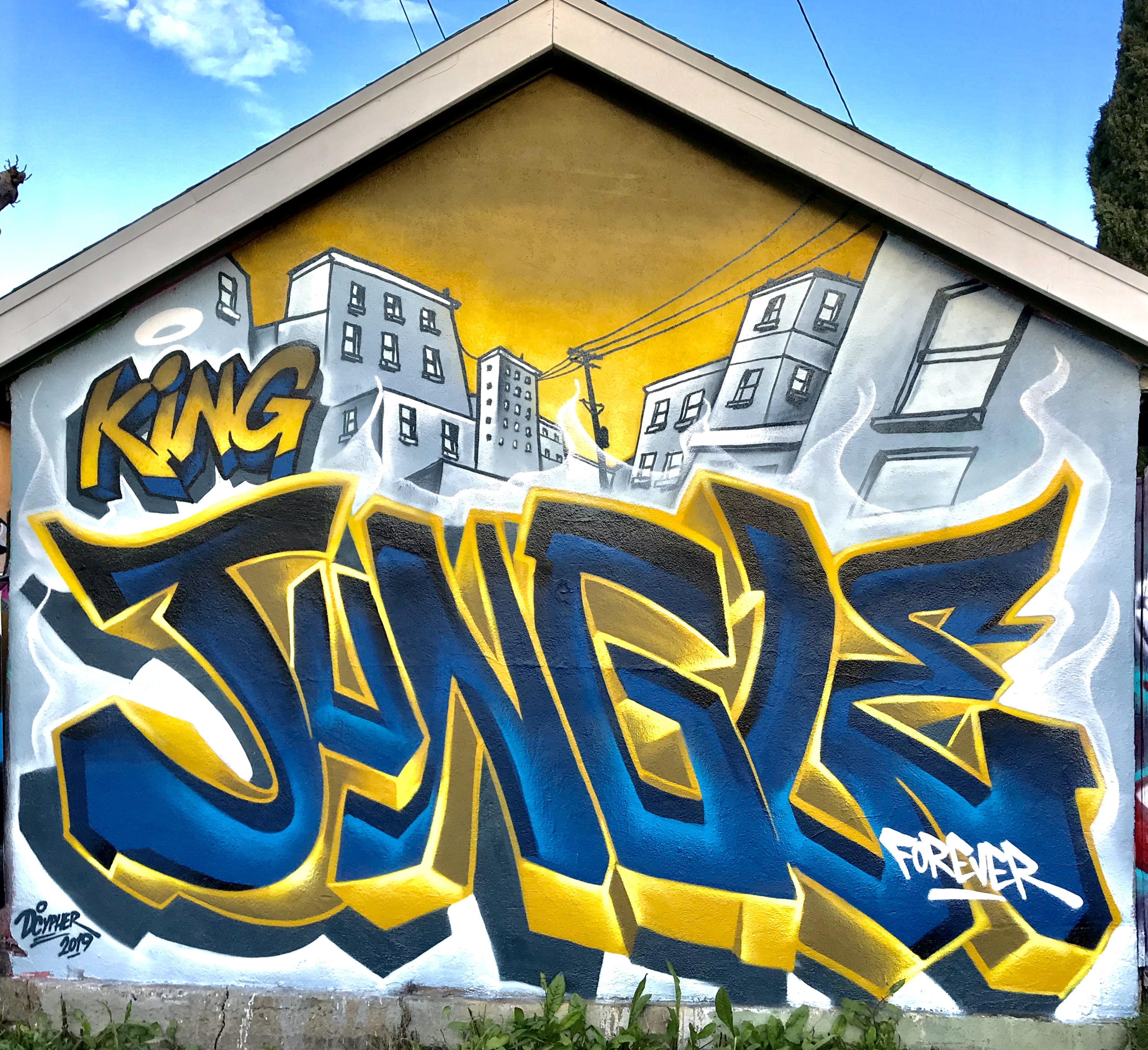 Dcypher's tribute to Jungle in Los Angeles, 2019. (Photo supplied by Dcypher)