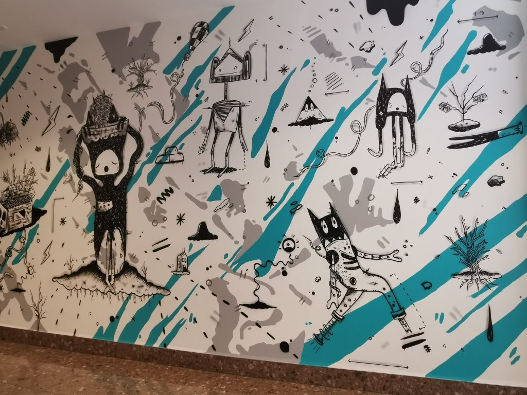 Cracked Ink's Westfield Riccarton Mall mural in Christchurch, 2021
