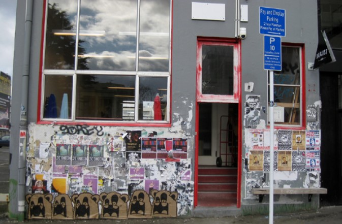 Paste ups in Wellington, 2021 (from http://crackedink.com/)